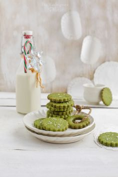 Green Tea Cookies ( http://beelittlefood.blogspot.com/2011/12/matcha-green-tea-sea-salt-cookies.html)