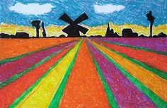 foreground, mdlegrd, bkgrd/perspective/oil pastels, shrinky dink/print