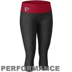Nike Atlanta Falcons Women's Dri-FIT Legend Performance Capri Pants- Black/Red
