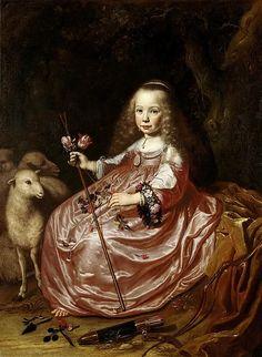 Santvoort, Dirck Dircksz. van - Clara Alewijn (1635-74). Daughter of Abraham Alewijn and Geertruid Hooftman, 1644