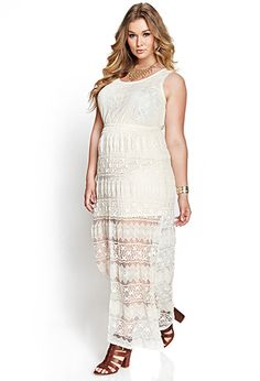 Another wedding dress contender from Forever 21 Crochet Lace Maxi Dress | FOREVER21 PLUS - 2000123454