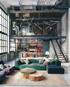 Industrial look  #allofarchitecture Industrial Loft by Golovach Tatiana + Andrey Kot © Golovach Tatiana + Andrey Kot