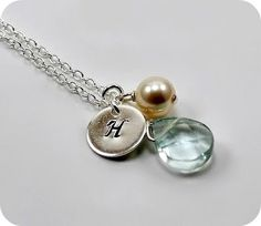 Personalized Initial Necklace with charms by StarringYouJewelry