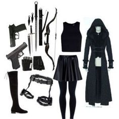 The Truth Be Told - Chapter our first mission pt 1 - Inspiration - Kids Style Cute Emo Outfits, Bad Girl Outfits, Edgy Outfits, Fashion Outfits, Nerd Fashion, Warrior Outfit, Badass Outfit, Zombie Apocalypse Outfit, Spy Outfit