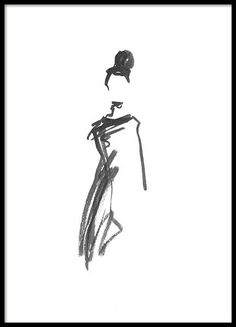 All In Black Poster All In Black Poster,Drawing Bun Poster in the group Posters & Prints / Illustrations at Desenio AB Poster Drawing, Drawing Sketches, Art Drawings, Sketching, Black Poster, Poster 40x50, Groups Poster, Art Watercolor, Charcoal Art