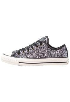 Converse CHUCK TAYLOR ALL STAR OX GLITTER - Sneakers - metallic gunmetal/black/white - Zalando.se
