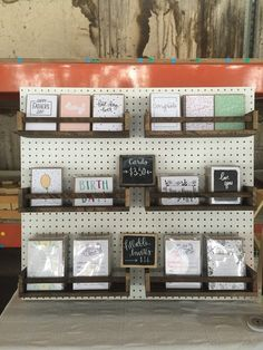 Machelle Kolbo Design Studio Pegboard Card Display More
