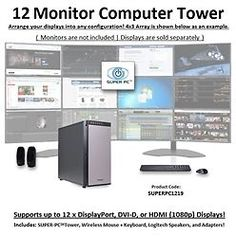 SUPER PC | Twelve Display Workstation | 5th Gen Intel Core i7 Six Core CPU