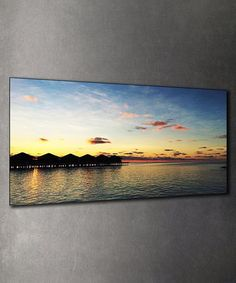Loving this Maldives Sunset Wall Art on #zulily! #zulilyfinds