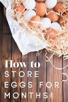 How to Preserve Eggs for Months! Have a lot of eggs? Let me show you how to preserve eggs for MONTHS with NO refrigeration needed! This super simple food preservation method is great! Egg Storage, Canned Food Storage, Storage Ideas, Preserving Eggs, Storing Eggs, Home Canning, Canning 101, Pressure Canning, Canning Jars