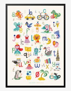 Mimi's ABC plakat By Helen Dardik x 70 cm) - Mimi´s Circus Alphabet Games, Alphabet For Kids, Alphabet Art, Alphabet Posters, Abc Poster, Toddler Fun, Toddler Preschool, Diy For Kids, Gifts For Kids
