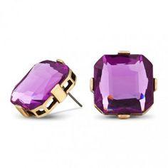 Principles by Ben de Lisi Designer purple square stud earring- at Debenhams.com