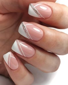 Manicure Nail Designs, French Manicure Nails, French Tip Nails, French Nail Art, French Nail Designs, Nail Art Designs, Chic Nails, Stylish Nails, Elegant Nail Art