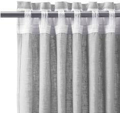 IKEA £45 x 2 grey linen curtains