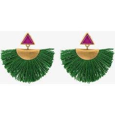 Katerina Makriyianni Mini Fan Earrings With Purple Triangle Studs (738.850 COP) ❤ liked on Polyvore featuring jewelry, earrings, triangle jewelry, purple jewellery, triangular earrings, purple jewelry and stud earrings