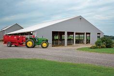Morton Buildings dairy farm in Wyoming, New York.