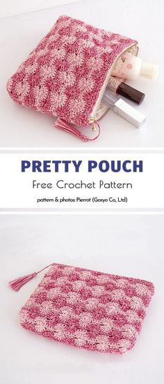 Crochet pouches are loved by many, especially because they are very useful in many situations. We have presented earlier many Crochet Coin Purse, Free Crochet Bag, Crochet Market Bag, Crochet Purses, Crochet Pencil Case, Crochet Pouch, Thread Crochet, Crochet Gifts, Purse Patterns Free