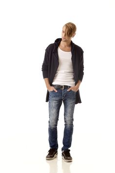 LOUIS // Knitted wrap open front mens hoodie by Krista Elsta.
