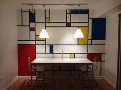 My new dining room Mondrian Wall!