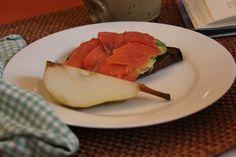 Salmon and Avocado on Rye