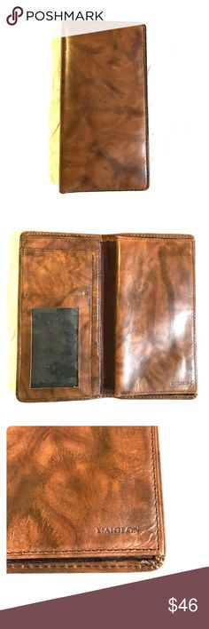 """Vintage Men's L'Aiglon Long Wallet. Leather men's Long Wallet. 3 1/2"""" x 7"""". Vintage L'Aiglon. Difficult to find these and this Wallet is in exceptional condition. No noticing marks tears or stains. A great piece for a unique guy who loves vintage style! Bags Wallets"""