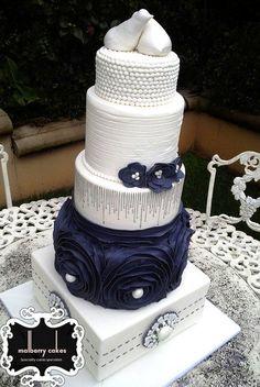 5 tier Classic Vintage Wedding Cake