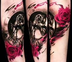 Realistic Time Tattoo by Pavol Krim Tattoo | Tattoo No. 14048
