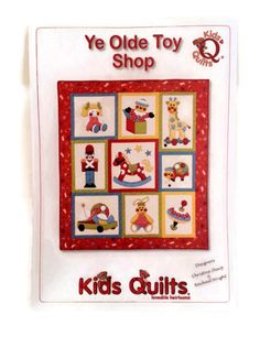 Ye Olde Toy ShopKids QuiltApplique by BeaverheadSupplies on Etsy, $15.00
