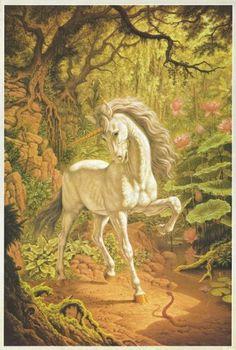Title: Unicorn by Johfra Bosschart  Description: Painting by the late Johfra Bosschart  Photographer/Artist: Johfra Bosschart