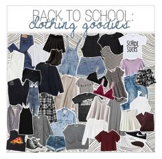 """34. BACK TO SCHOOL: 15 clothing goodies!"" by pale-magazine ❤ liked on Polyvore featuring Cheap Monday, Monki, H&M, Levi's, Abercrombie & Fitch, Paige Denim, Nobody Denim, Louis Vuitton, Hope and Converse"