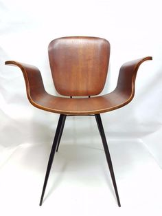 Rare Chair Armchair 60s Vintage Chairs Bent Plywood Chair Medea