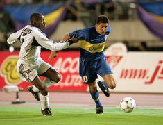 Boca Juniors v Real Madrid Intercontinental Cup 2001 Messi, Real Madrid, Martin Palermo, Bernabeu, Football Photos, Baseball Cards, Aficionados, Roman, Legends
