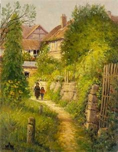 Harvey - Springtime in Europe - Garden Walk - This is one of more than works of art offered by ArtUSA, The World's Source for Collectible Art. Toll-free or American Legend, American Art, Native American, G Harvey, Great Paintings, Best Artist, Limited Edition Prints, Pop Up, Around The Worlds