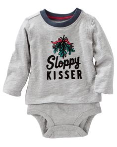 Baby Boy Flocked Double-Decker Bodysuit | OshKosh.com