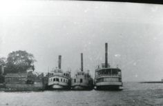 Riverboats were frequently chartered for picnic excursions on the St. Here 3 are seen after depositing their passengers at a river wharf. Steamboats, Vintage Florida, New Brunswick, The St, Canoe, Vintage Prints, Picnic, River, History