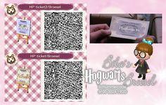Fahrkarte - Platform 9 3/4 - Hogwarts express - Station - Train - Wizard - Zauberer -Broesel Spiel - A letter from Hogwarts - ticket - Harry Potter- Path - Weg - qr - ACNL - Broesel - Animal Crossing New Leaf
