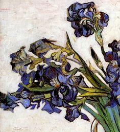 Vincent van Gogh ~ Still Life: Vase with Irises (detail), 1890