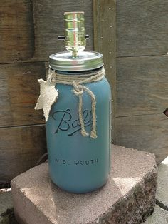 Mason Jar Lamp Base Only No Shade-Rustic Table by Rustic4You