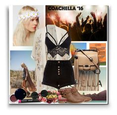 """coachella 16"" by adrianaotti ❤ liked on Polyvore featuring Gucci, Miss Selfridge, Club L, River Island, H&M, Bobbi Brown Cosmetics, Clé de Peau Beauté and Forever 21"