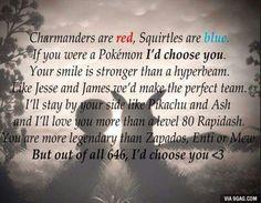 I'd choose you! Pokemon Valentine.