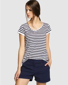 Shorts Easy Wear in navy blue
