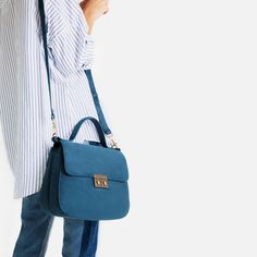 CITY BAG WITH FASTENING DETAIL-View all-BAGS-WOMAN | ZARA United States