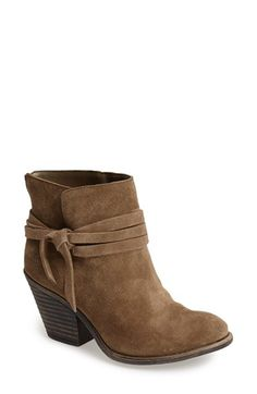 Free shipping and returns on Sole Society 'Maren' Suede Bootie (Women) at Nordstrom.com. A chunky stacked heel boosts a versatile suede ankle boot cinched with a slender wraparound strap.