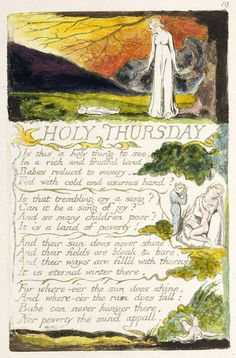 "Songs of Innocence and of Experience, object 49 (Bentley 33, Erdman 33, Keynes 33) ""Holy Thursday"" (copy A, 1795, British Museum, London)"