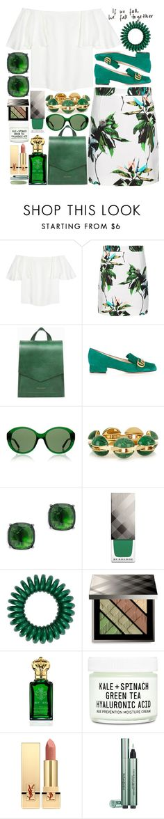 """Green in Cuba"" by anotherfashionfatale ❤ liked on Polyvore featuring Valentino, Proenza Schouler, Tammy & Benjamin, Gucci, The Row, Chloé, Lauren Ralph Lauren, Burberry, Clive Christian and Youth To The People"