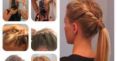the shiny side: Second Day Hair: Side Twist Pony