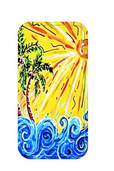 Happy Sunday  cell phone Case by BeckysWhimsicalArt on Etsy, $23.00 Tree Paintings, Paint Party, Happy Sunday, Cell Phone Cases, Original Artwork, Palm, My Arts, Illustrations, Crafty