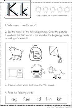 Letter Of The Week  Kk  Letter Activities Classroom Activities