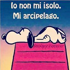 Io non mi isolo. Mi arcipelago. #snoopy