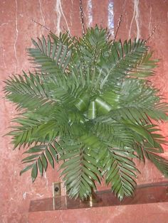 Palm Sunday Altar Arrangements | Making a rosette of palms with pussywillow